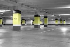 Underground parking. Shopping mall empty underground parking Royalty Free Stock Images