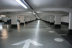 Underground parking. In the city of Lille (France Royalty Free Stock Image