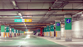Underground parking Stock Photos