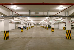 Underground parking. On a plenty of machines Royalty Free Stock Image