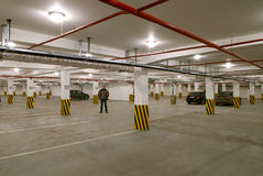 Underground parking Royalty Free Stock Photography