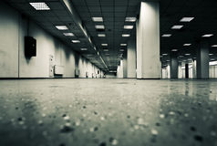 Underground parking. Contrast colors effect Royalty Free Stock Photo