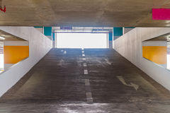 Underground parking on background. Royalty Free Stock Photography