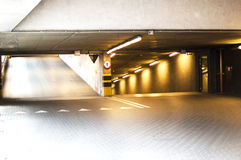 Underground parking for car lighting Royalty Free Stock Images