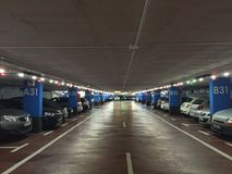 Underground parking Royalty Free Stock Images