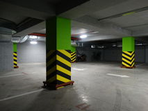 Underground parking. For cars and motorcycles Royalty Free Stock Photography