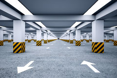 Underground parking without cars. Royalty Free Stock Image