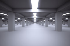 Underground parking without cars. Stock Images