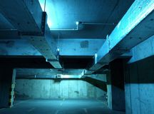 Underground parking. Parking for cars under the building habitable, two-level parking, parking for residents royalty free stock photo