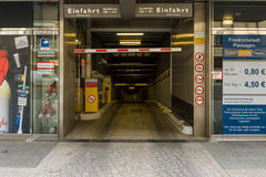 Underground parking in the center of Berlin. Royalty Free Stock Photos