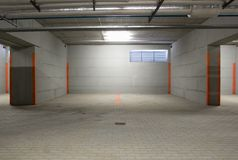 The underground parking Stock Photo