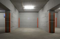 The underground parking Royalty Free Stock Photo