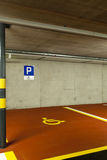 Underground parking, disabled Stock Photography