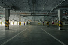 Underground parking. Empty underground parking as a background with copy space Royalty Free Stock Images