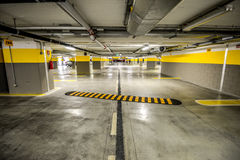 Underground parking Stock Image