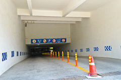 Underground parking entrance. Under the sunshine at chengdu,china.Photo is taken on 14 May 2011 Stock Photo