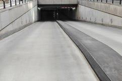 Underground parking. Entry into the urban an underground parking Stock Image