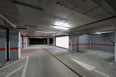 Underground parking exit/entrance Royalty Free Stock Photography