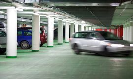 Underground parking/garage Stock Images