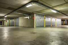 Underground parking garage Stock Photos