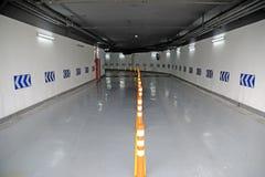Underground parking garage. Entrance of an underground parking garage Stock Photography
