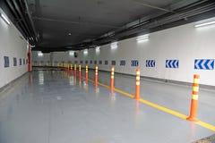 Underground parking garage. Entrance of an underground parking garage Stock Photos
