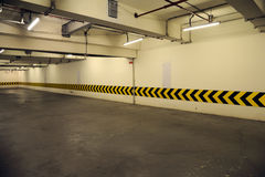 Underground parking garage Stock Photography