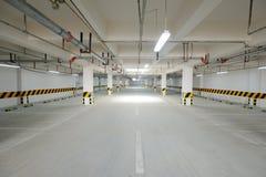 Underground parking garage Stock Photography