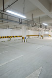 Underground parking garage Royalty Free Stock Images