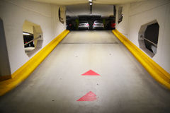 Underground parking garage. With cars Royalty Free Stock Image