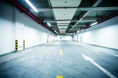 Underground parking garage. In China Royalty Free Stock Photography