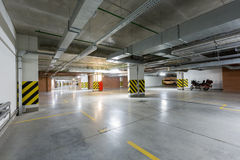 Underground parking Stock Images