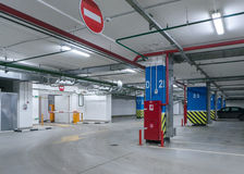 Underground parking Royalty Free Stock Photo