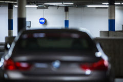 Underground parking/garage Royalty Free Stock Photos