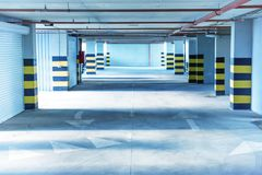Underground parking. Garage with a lot of cars Royalty Free Stock Photos