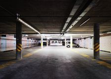 Underground Parking garage in modern building. Underground Parking garage in a modern building royalty free stock image