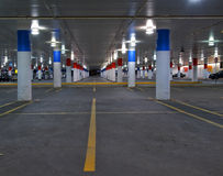 Underground parking. Garage in the night in the city Stock Image