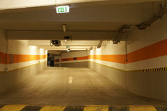 Underground parking. A underground parking garage in Romania royalty free stock image