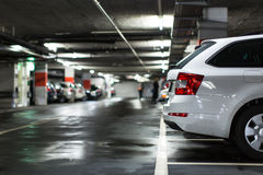 Underground parking/garage Stock Image