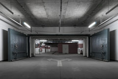 Underground parking. Garage under a shopping mall Royalty Free Stock Image