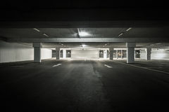Underground parking garage Royalty Free Stock Photos
