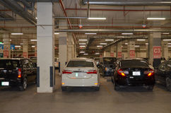 Underground Parking Lot, Emporium Mall Lahore Pakistan. Basement Car Parking of The Biggest Shopping Mall of Pakistan Stock Photo