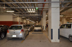 Underground Parking Lot, Emporium Mall Lahore Pakistan. Basement Car Parking of The Biggest Shopping Mall of Pakistan Stock Image