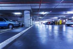Underground parking lot Stock Photos