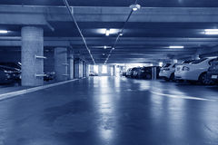 Underground parking lot Stock Image