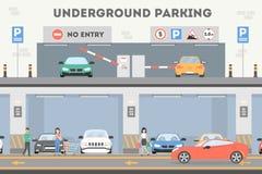 Underground parking lot. Stock Photos