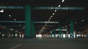Underground parking. Underground mall parking  with cars stock footage