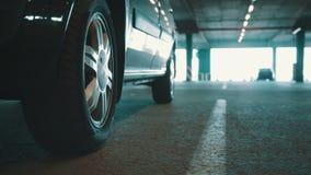 Underground parking. Underground mall parking  with cars stock footage