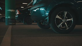 Underground parking stock video