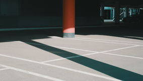 Underground parking stock footage